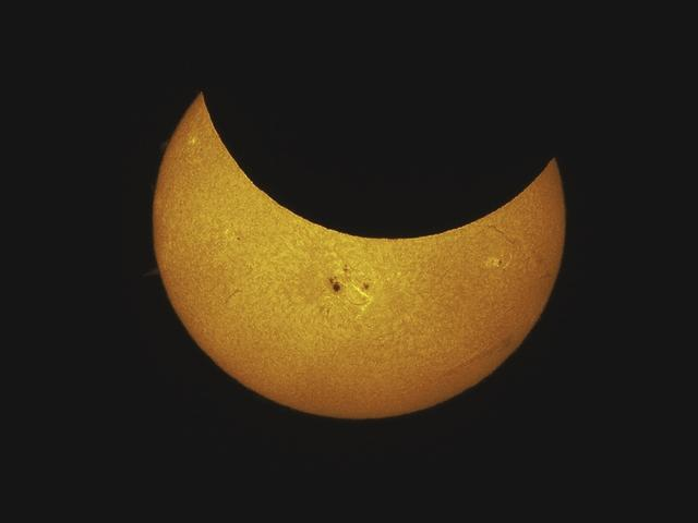 Partial Solar Eclipse October 23, 2014 by Jim and Deb Bonser